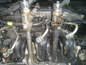 Comparing injector carbon build-up
