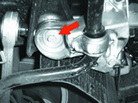 The adaptors should just make contact with the front bolts of the subframe