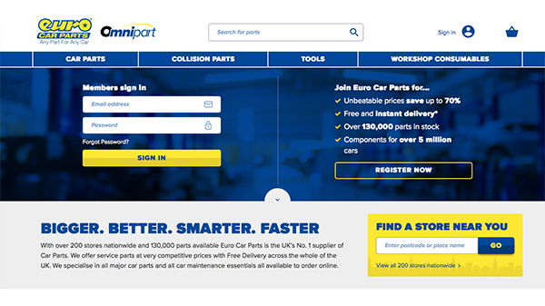 Euro Car Parts Launches Trade Website