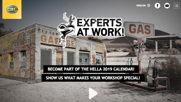 HELLA's 2019 Workshop Calendar Competition