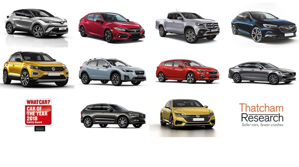 thatcham research reveals top ten safest cars of the year. Black Bedroom Furniture Sets. Home Design Ideas