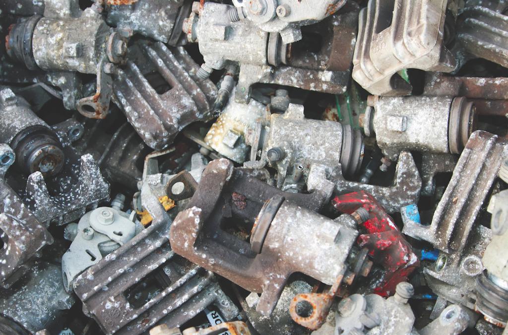 Scrap automotive components